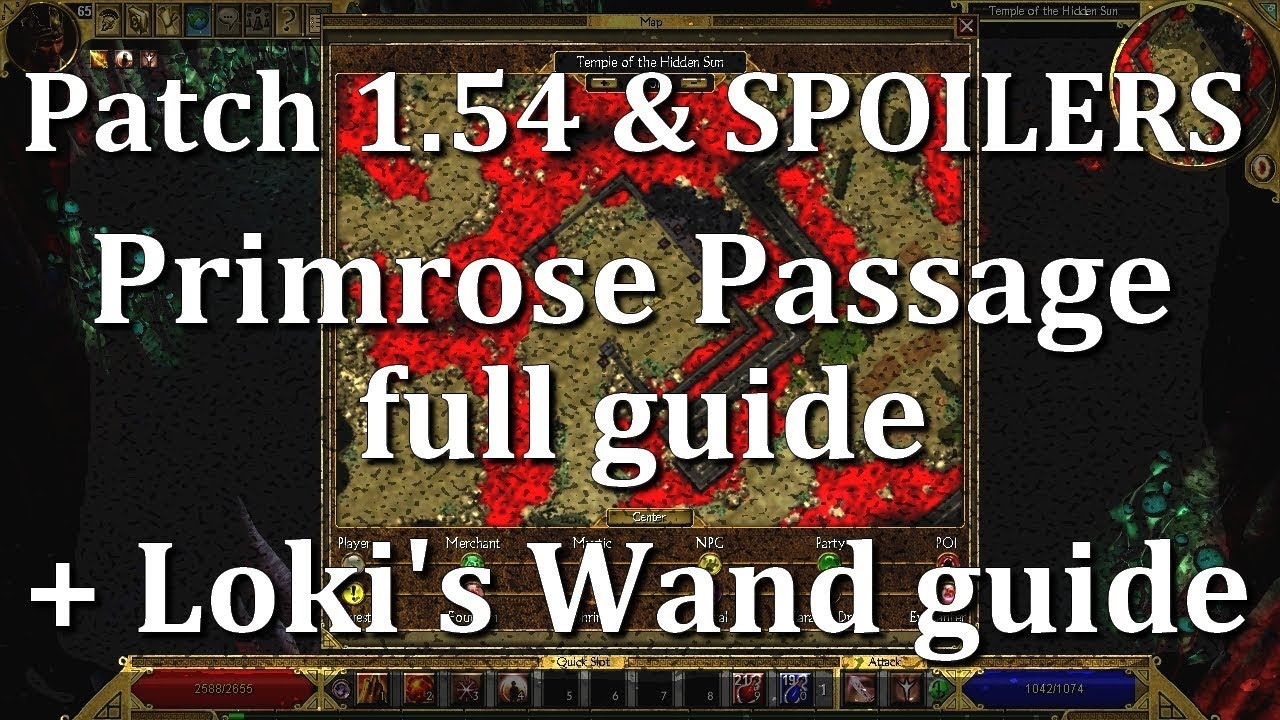 Titan Quest Ragnarok Patch 1 54 and Primrose passage full guide plus Loki's  Wand