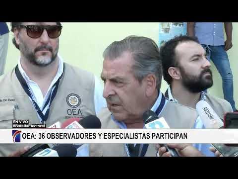 Jefe mision OEA asegura proceso transcurre con normalidad