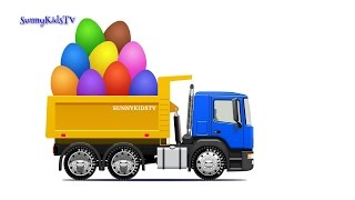 Trucks for kids. Dump Truck. Surprise Eggs. Learn Fruits. for children.