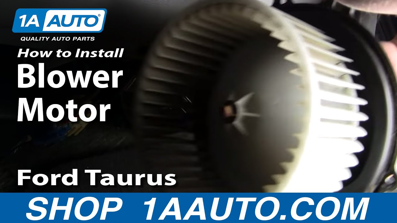 how to install replace noisy heater ac blower motor ford taurus rh youtube com Ford Blower Switch Diagram 3 Speed Blower Motor Wiring Diagram