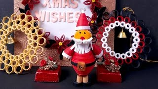 Paper Quilling Tutorial Episode 16 - Santa Craft For Christmas @ ekunji.com