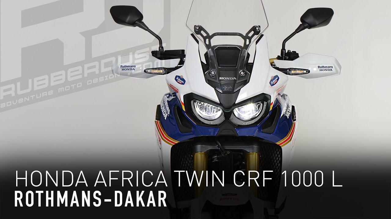 honda africa twin crf 1000 l rothmans details youtube. Black Bedroom Furniture Sets. Home Design Ideas