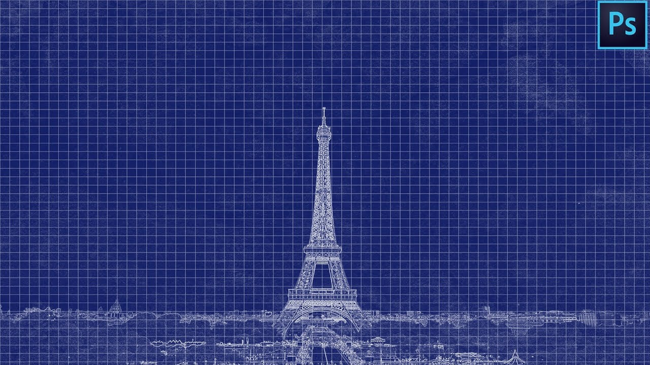 Blueprint effect photoshop tutorial youtube blueprint effect photoshop tutorial malvernweather Choice Image