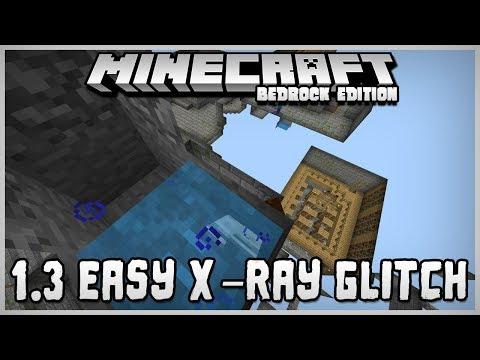HOW TO USE EASY X-RAY GLITCH - AQUATIC UPDATE 1.3 - Minecraft - MCPE / Xbox / Bedrock