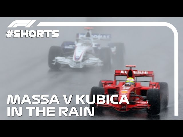 Massa and Kubica's EPIC Fight To The Finish! #Shorts