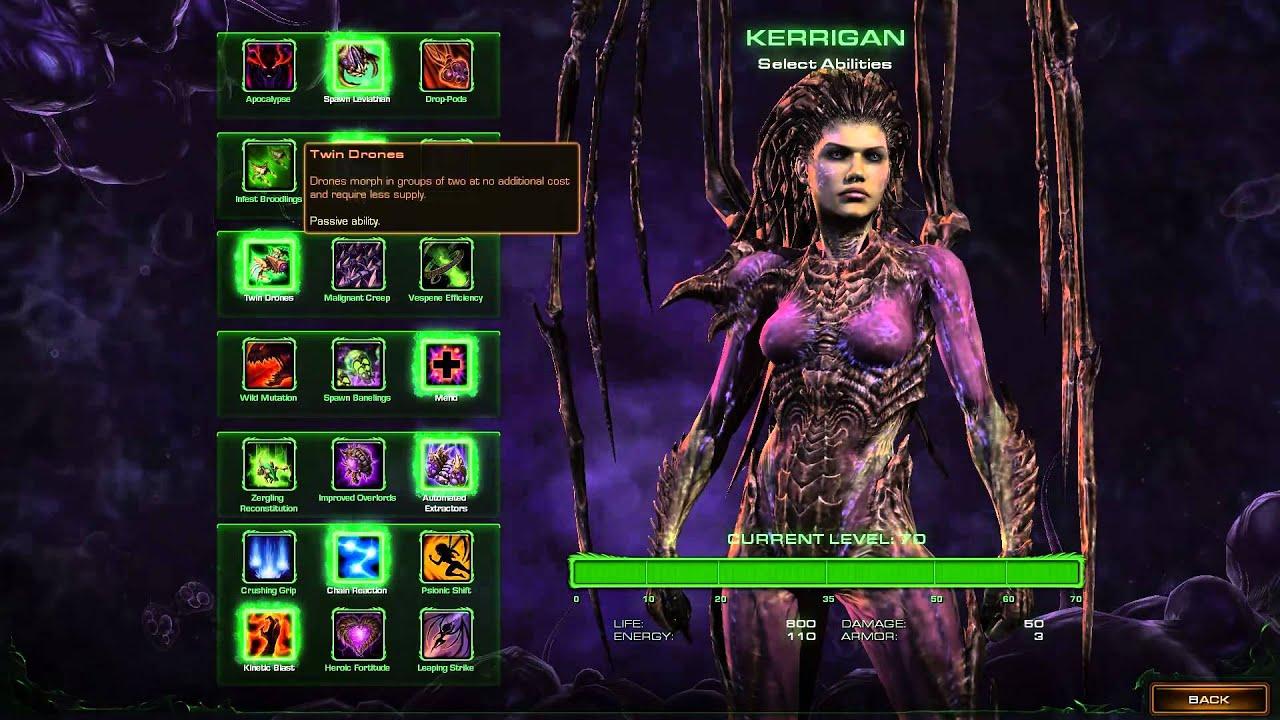 Starcraft  Heart Of The Swarm Kerrigan Build