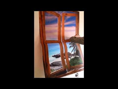 Self adhesive wallpaper murals | window view murals - how to install your Art Fever wall art.