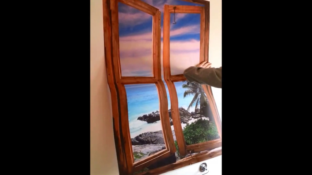 YouTube Premium & Self adhesive wallpaper murals | window view murals - how to install ...