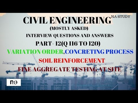 PART-12 CIVIL ENGG MOSTLY ASKED INTERVIEW QUESTIONS AND ANSWERS (Q116 TO Q 120)  BY NA STUDY 