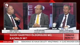 Suudi gazeteci olayının perde arkası / Türkiye Nereye / Abdüllatif Şener - Ümit Özdağ - 2. Bölüm