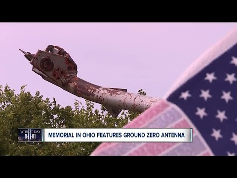 Antenna from North Tower of World Trade Center on display in small Ohio village