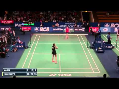 2015 BCA Indonesia Open R32 [WS] Carolina MARIN vs Yui HASHIMOTO (Sports)