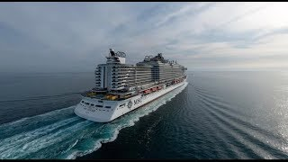 MSC Seaview Maiden Voyage from Genova after her Christening in June...