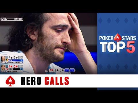 Top 5 Hero Calls ♠️ Poker Top 5 ♠️ PokerStars Global
