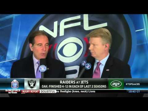 Jim Nantz  + Phil Simms on Derek Carr