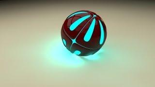 Cinema 4D Tutorials: Эпичный световой 3D Шарик [HD]