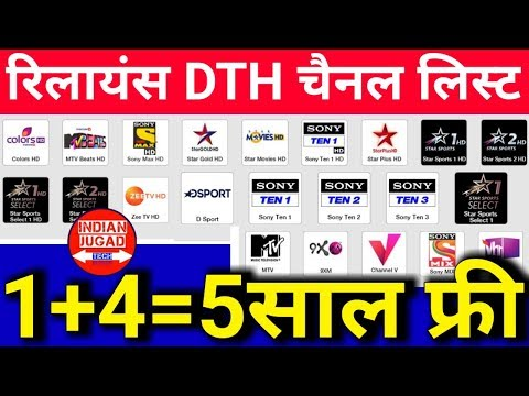 Reliance DTH Channel List ( HD Channel list) | Reliance Digital TV free for 5 Years