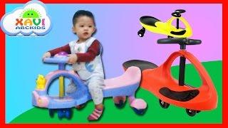 Xavi ABCKids ride fun Play Swing Cars - First video uploaded on channel - Trò chơi xe lắc