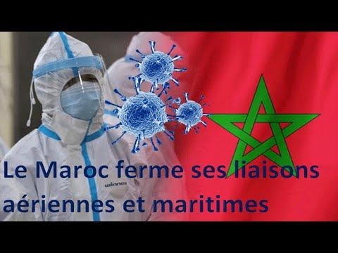 coronavirus: le Maroc ferme ses liaisons aériennes et maritimes /en bref 13/03/2020