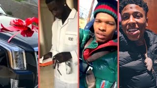 Rappers Christmas 2018 Buy Expensive Cars Gifts Surprises Reactions (NBA YoungBoy Moneybagg Blasian)