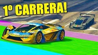 PRIMERA CARRERA!! SÚPER COCHE DEL FUTURO!! - CARRERA GTA V ONLINE - GTA 5 ONLINE
