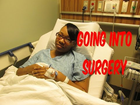 Getting prepared for surgery.........