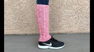 How to Knit Simple and Easy Leg Warmers Pattern #616│by ThePatternFamily