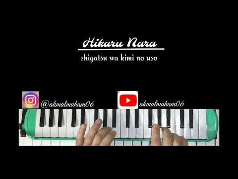 Lirik And Lagu Shigatsu Wa Kimi No Uso Hikaru Nara Cover Jenre Piano And Pianika Youtube