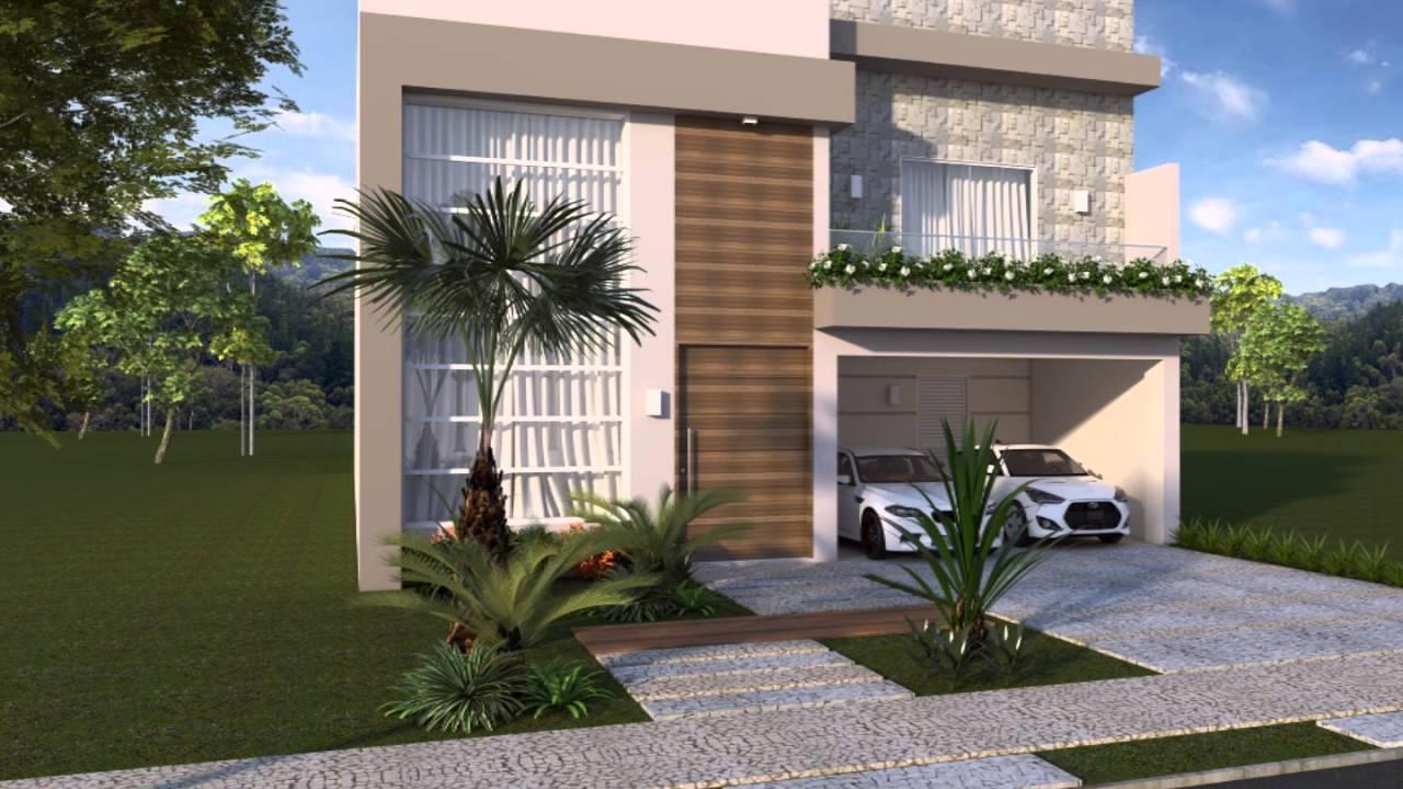 Projeto casa arquitetura moderna terrea mezanino 4 suites for Casa moderna