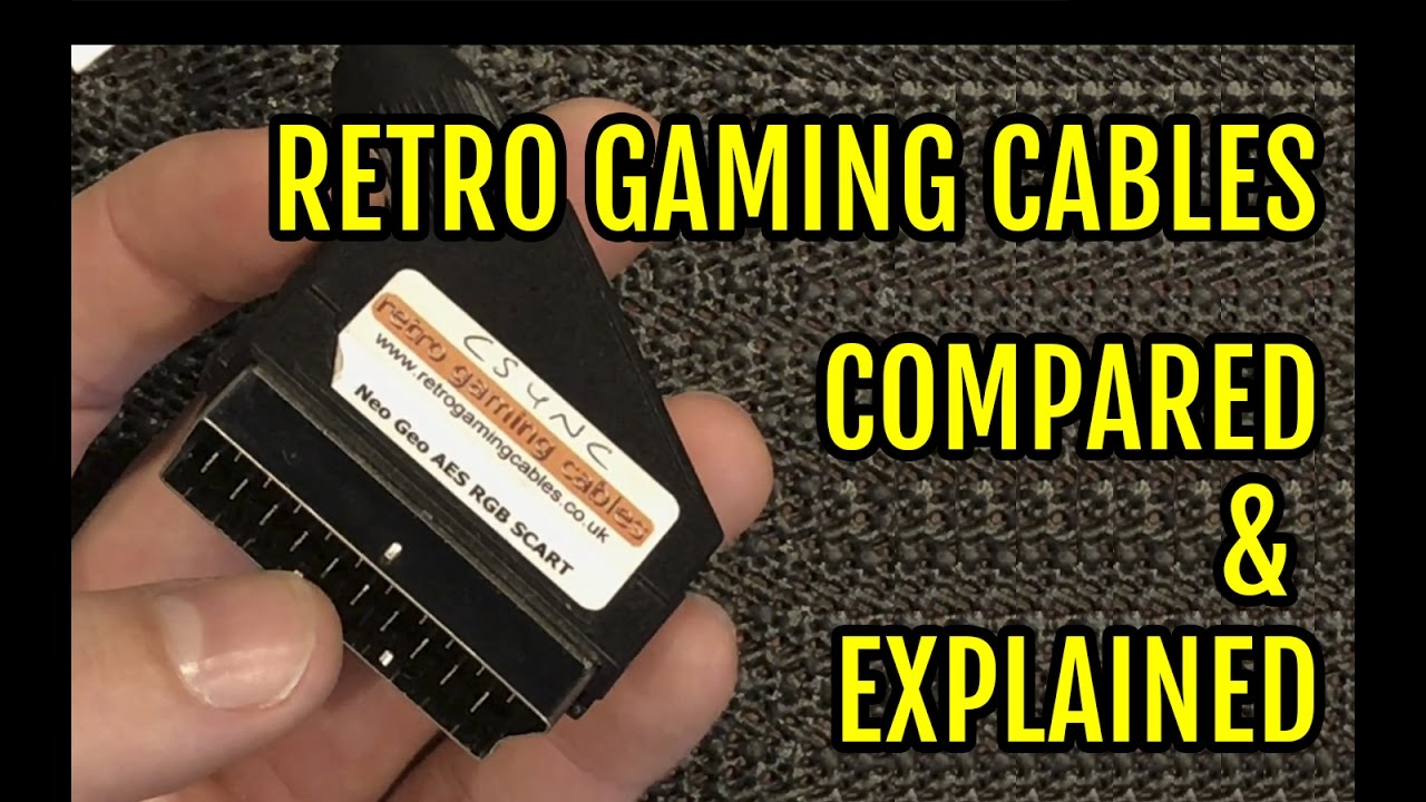 Retro Gaming Cables Comparision Explained Rgb Cable Rgb