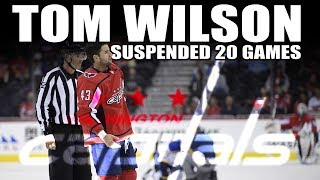 Tom Wilson Suspended 20 Games