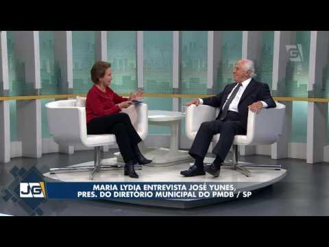 Maria Lydia entrevista José Yunes, pres. do Diretório Municipal do PMDB/SP