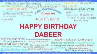 Dabeer   Languages Idiomas - Happy Birthday