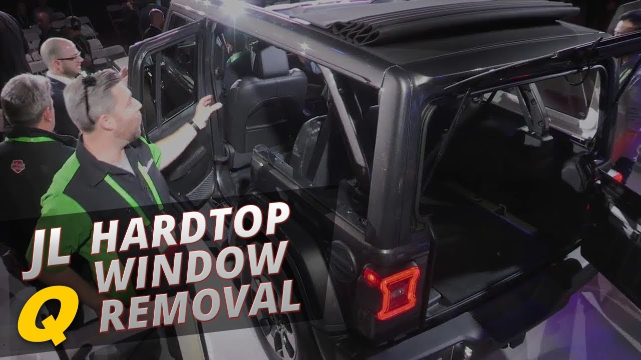 2018 Jeep Wrangler JL Side Window Removal - YouTube