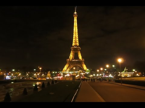 Driving in Paris France at night dashcam 4k