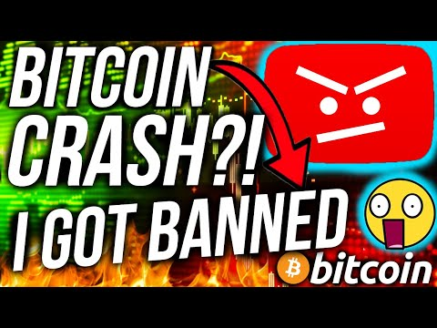 YOUTUBE BANNED ME 😭!?! BITCOIN PRICE CRASH!?! STOCK MARKET CRASH!!! BTC & ETHEREUM CRYPTO NEWS