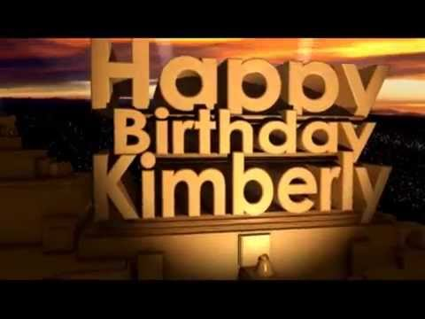 Happy Birthday Kimberly
