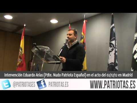Intervención de Eduardo Arias en el acto del 2-D