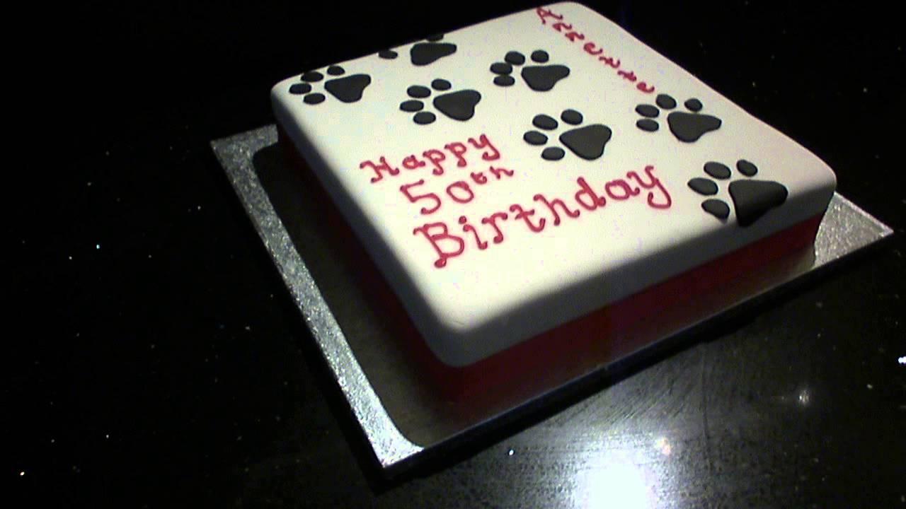 Dog Paw Birthday Cake
