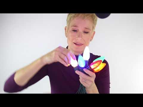 C9 Faceted LED Christmas Bulbs