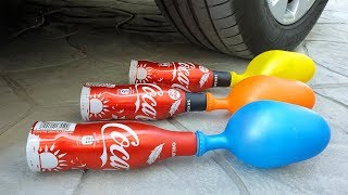 Crushing Crunchy & Soft Things by Car! EXPERIMENT CAR vs COCA COLA and BALLOONS