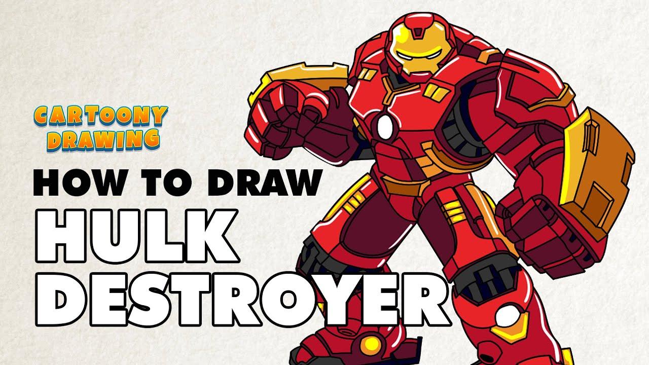 ironman how to draw ironman hulk destroyer