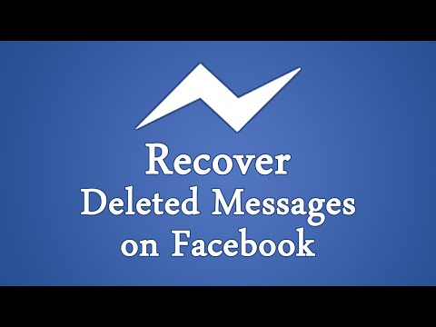 How To Recover Deleted Facebook Messages / Photos 2017?