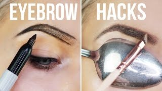 10 WEIRD EYEBROW HACKS YOU NEED TO KNOW!