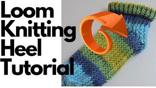 Loom Knit Slipper Sock Heel Instructions