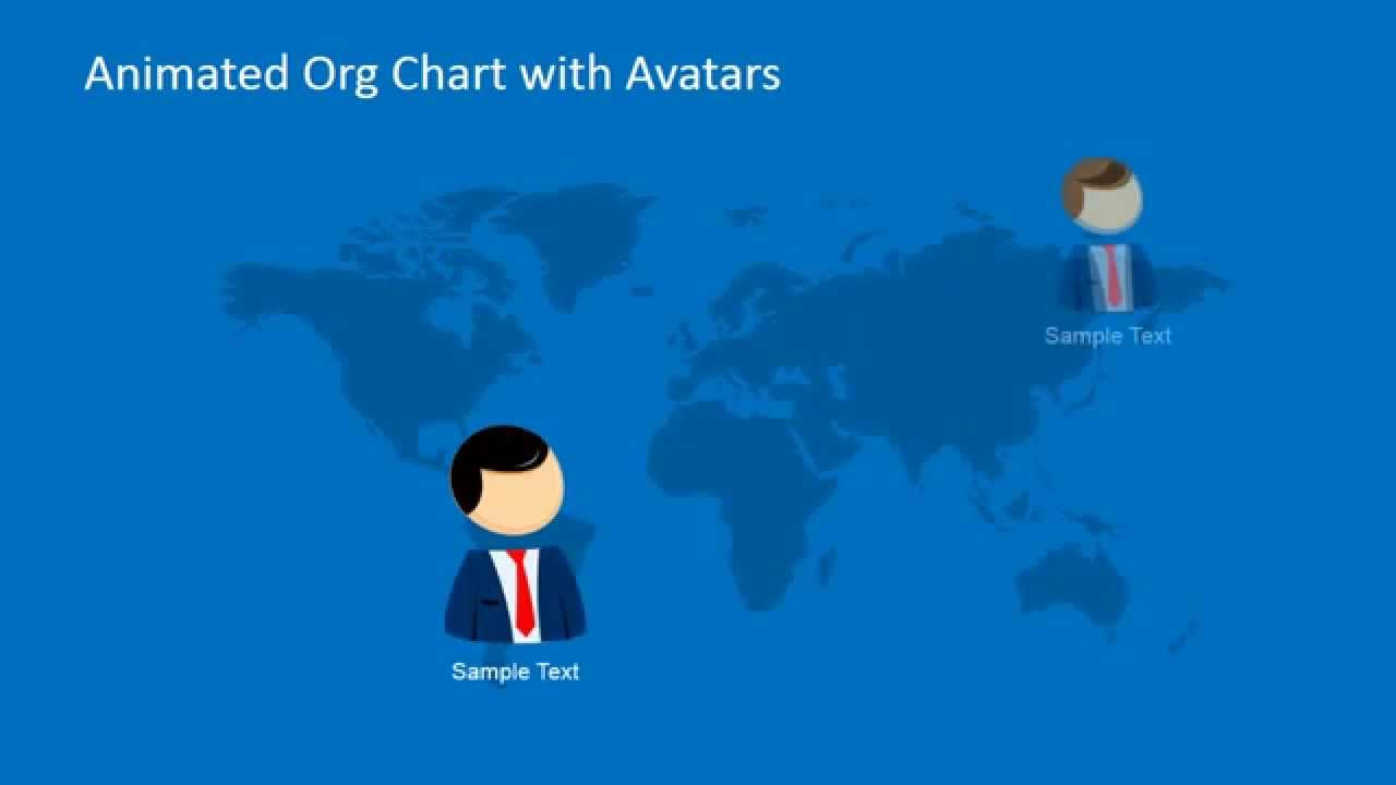 Animated Org Chart Powerpoint Template Youtube
