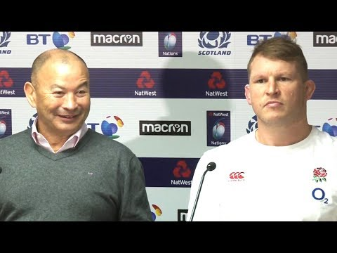 Scotland v England - Eddie Jones & Dylan Hartley Post Match Press Conference - Six Nations