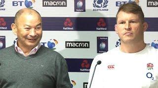 Scotland v England - Eddie Jones & Dylan Hartley Post Match Press Conference - Six Nations