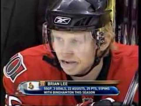 Brian Lee interview vs Sabres - Mar 27/08