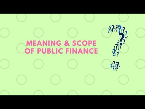 meaning and scope of public finance